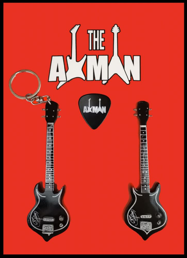 (Kiss) Gene Simmons: Punisher Bass: Keyring & Magnet Variation (UK Seller)